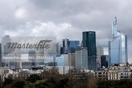 Skyline of La Defense business district, Paris, France, Europe