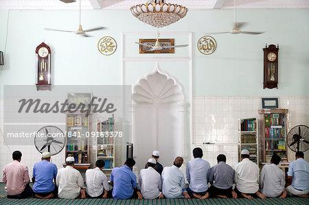 Muslim men praying, Saigon Central Mosque, Ho Chi Minh City, Vietnam, Indochina, Southeast Asia, Asia