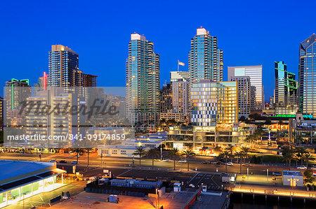 San Diego skyline, California, United States of America, North America