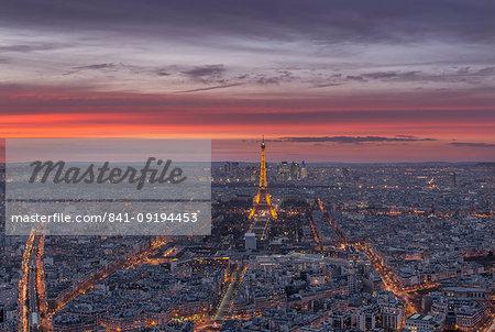 Sunset, Paris, France, Europe