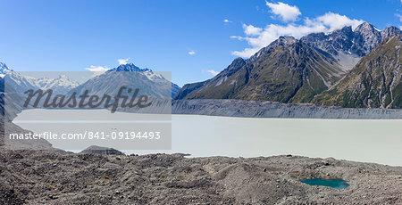 Tasman Glacier, Tasman Glacier Lake, Burnett Mountains, Mount Cook National Park, UNESCO World Heritage Site, South Island, New Zealand, Pacific