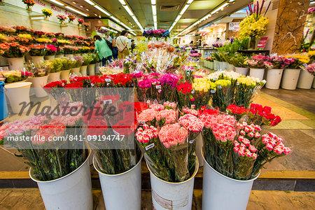 Flower Market on Flower Market Road, Mongkok, Kowloon, Hong Kong, China, Asia