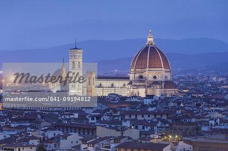 The Duomo (Santa Maria del Fiore), UNESCO World Heritage Site, Florence, Italy, Europe