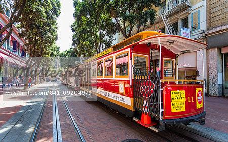 Cable car, San Francisco, California, United States of America, North America