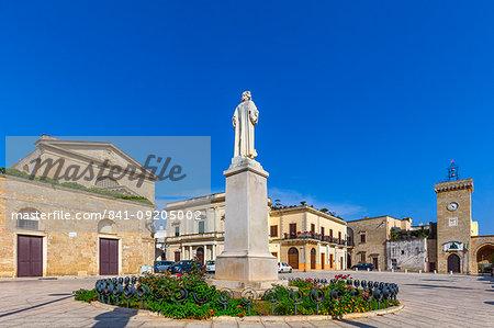 Piazza San Vincenzo, Ugento, Puglia, Italy, Europe