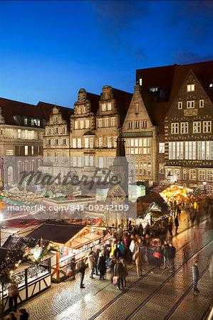 Market Square, Christmas markets, Bremen, Germany, Europe