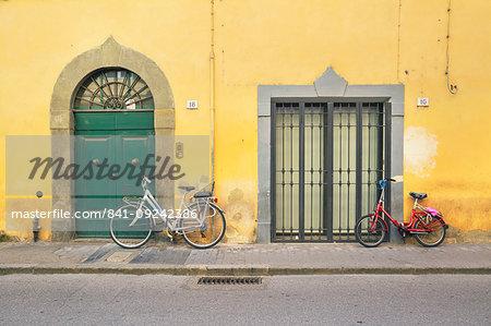 Bicycles, Pisa, Tuscany, Italy, Europe