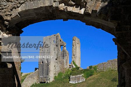 Gatehouse, Corfe Castle, Isle of Purbeck, Dorset, England, United Kingdom, Europe