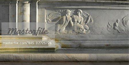 Victoria Memorial fountain detail, St James' Park, London.