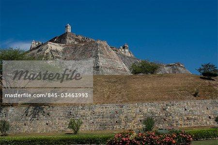 Fort San Felipe, originally built in the 17th century, Cartagena de Indias, Colombia