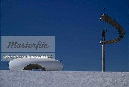 JK Memorial, Brasilia dedicated to Juscelino Kubitschek de Oliveira. 1980. Architects: Oscar Niemeyer