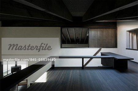 Mokuso, Private House, View of the mezzanine. Architects: Michimasa Kawaguchi Architect and Associates