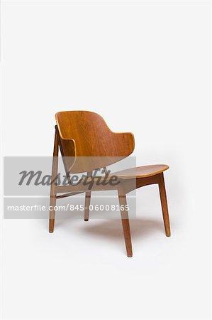 Chair, Swedish, 1950s, manufactured by Christensen and Larsen. Designer: Ib Kofoed Larsen