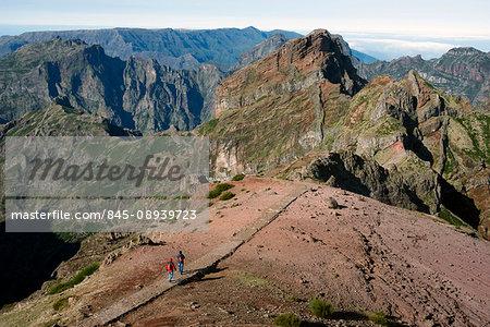 Along the hiking path, Pico de Areeiro, Madeira, Portugal