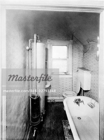 1900s GAS WATER HEATER BATHROOM