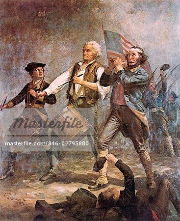 d849da540bbb SPIRIT OF 76 BY ARCHIBALD M. WILLARD AMERICAN REVOLUTION WAR 1776 THREE MEN  PATRIOT FLAG DRUM FIFE MARCHING MUSIC - Stock Photo
