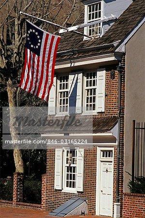 BETSY ROSS HOUSE PHILADELPHIA PENNSYLVANIA