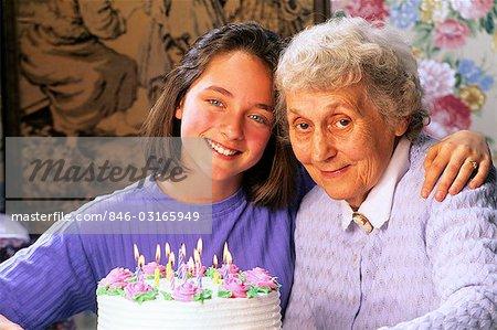GRANDMOTHER AND GRANDDAUGHTER BIRTHDAY CELEBRATION