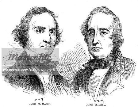 1800s PORTRAITS OF CONFEDERATE COMMISSIONERS JAMES MASON JOHN SLIDELL TAKEN PRISONER OFF BRITISH SHIP TRENT