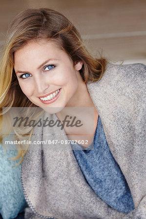 Close up portrait of beautiful blonde woman.