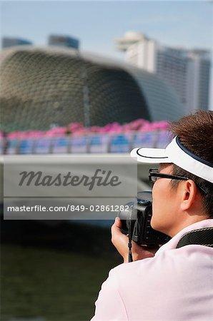 Tourist taking a photograph