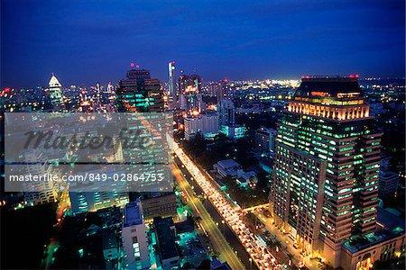 Thailand, Bangkok, Modern Buildings, Sathorn Road