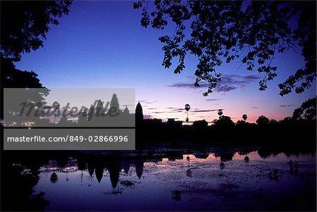 Cambodia, Siem Reap, Temples of Angkor, Dawn over Angkor Wat