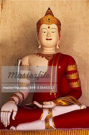 Thailand,Chiang Mai,Buddha Statue at Wat Chedi Luang
