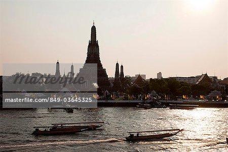 Thailand,Bangkok,Wat Arun and Chao Phraya River