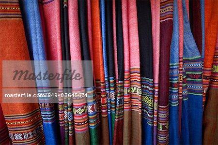 Vietnam,Hoi An,Silk Shop Fabric Display
