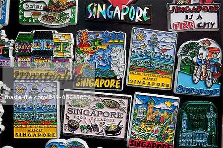 Singapore,Chinatown,Souvenir Fridge Magnets