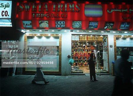 Late night shopping,Dubai,UAE - Stock Photo - Masterfile