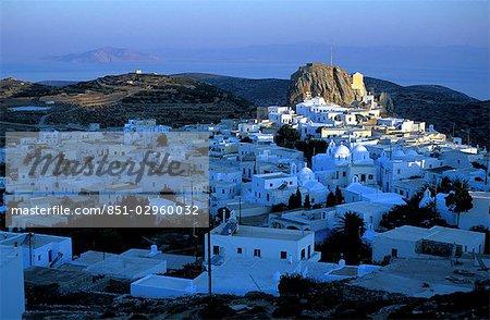 Dawn breaks over Hora,Amorgos,Greek Islands