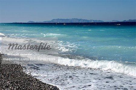 Surf on The Aegean Sea,Rhodes,Greece