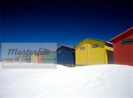 Colourful beach huts,Muizenburg,Cape Town,South Africa.