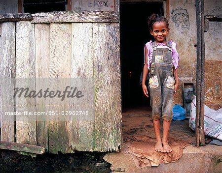 Portrait of a girl,Ponte Sol,Sao Tome e Principe,Principe Island