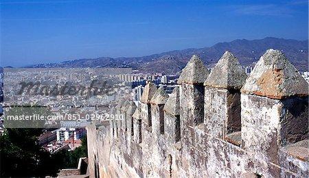 Walls of Gibralfaro,Malaga,Andalucia,Spain
