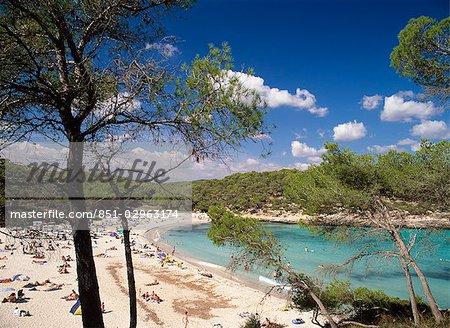 Beach in Cala Mondrago,Mallorca,Spain