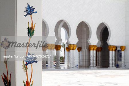 Atrium of the Sheikh Zayed Mosque, Abu Dhabi, United Arab Emirates