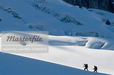 Cross country skiing Alaska Range Interior AK Denali Natl Park winter scenic