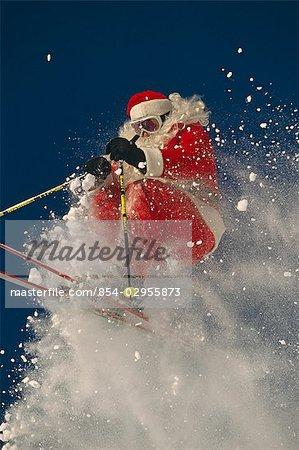 Santa Claus Downhill Skiing Big Mountain Resort Montana