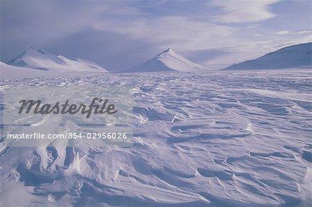 Ishivak Pass in Baird Mtns Noatak National Preserve AK AR Winter