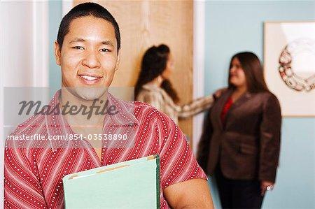 Alaskan native Yupik/African American Man in office setting