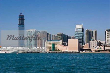 Tsimshatsui skyline,Kowloon,Hong Kong