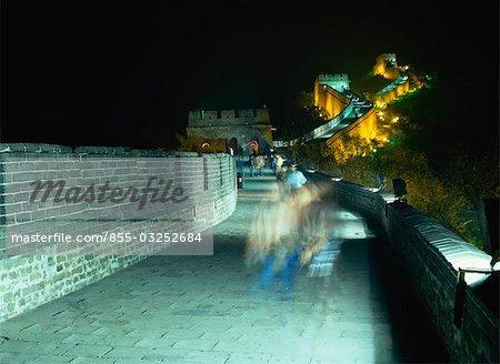 Badaling Great Wall at night, Beijing, China