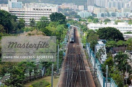Railroad at Mongkok, Kowloon, Hong Kong