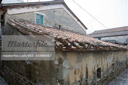 Old residential house at Kut  Kam Tin, New Territories, Hong Kong