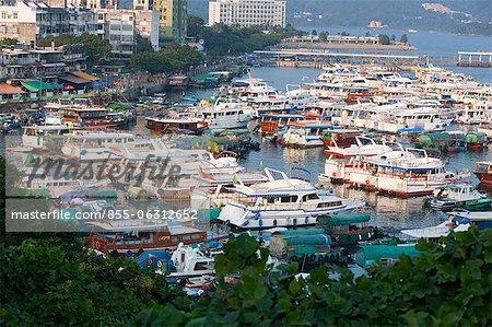 Overlooking the old village from Tui Min Hoi, Sai Kung, Hong Kong