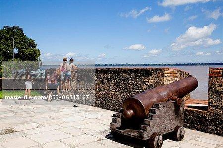 Visitors Forte do Castelo do Senhor Santo Cristo do Presépio de Belém, Belém, Pará, Brazil