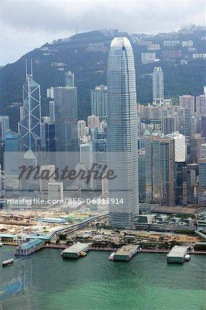 Bird's eye sweep of Central area from Sky100, 393 metres above sea level, Hong Kong